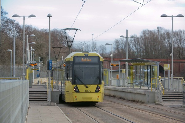 Close to tram stops