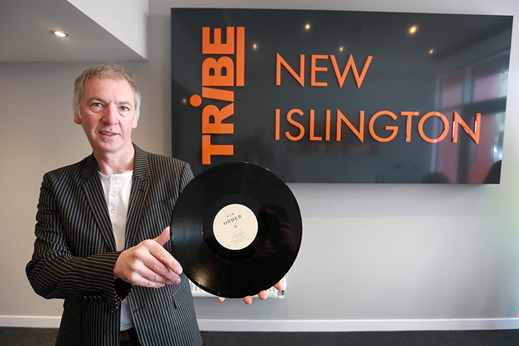 Clint Boon photographed at the launch of Tribe Apartments, New Islington.   credit:  leeboswellphotography.com